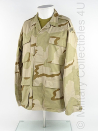 KM Korps Mariniers Desert jas (us army desert camo) met straatnaam - maat Medium-Long - origineel