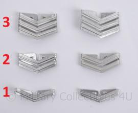 Gemeente- en Korps Rijkspolitie schouder rangen zilver - aluminium - per paar - origineel