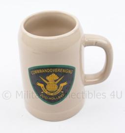 KCT Commandovereniging Zuid-Holland biermok - 9,5 x 8 x 14 cm - origineel