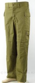 Israelische leger broek groen - 2009 - maat 2 (taille omtrek 90 cm) - origineel