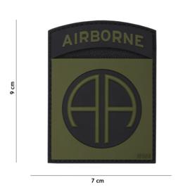 Embleem PVC 3D met klittenband - 82nd Airborne Division - 9 x 7 cm