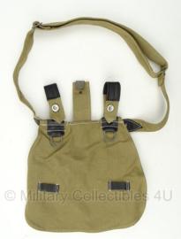 Duitse WO2 broodzak groen/khaki 1940 - met draagriem - replica