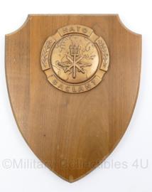 NATO SACLANT North Atlantic Treaty Organisation Supreme Allied Commander Atlantic wandbord - 25 x 20,5 x 2 cm - origineel