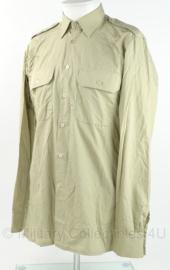 KM Korps Mariniers overhemd - khaki - met Korps Mariniers insigne - lange mouwen - maat 41-6 - origineel