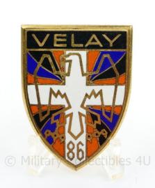 Frans leger eenheid insigne metaal VELAY 86 - maker Drago Paris - 5 x 3,5 cm - origineel