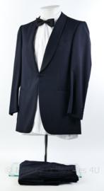 Heren kostuum jas en broek  - donkerblauw - maat 58 - origineel