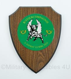 KL B/Stiercompagnie wandbord - 11 infanteriebataljon Lumbl GGJ - afmeting 18 x 14 x 2 cm - origineel