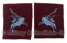 Airborne Division Patches, Pegasus - lichtblauw stiksel - gespiegeld paar