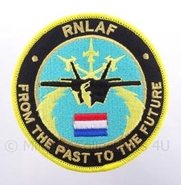 "KLu Koninklijke Luchtmacht embleem RNLAF Royal Netherlands Air Force F-35 ""From the past to the future"" - met klittenband - diameter 10 cm"
