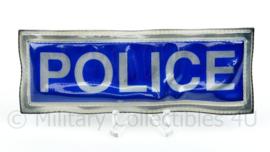 Britse Police reflectie strook met klittenband - 12 x 5 cm. origineel