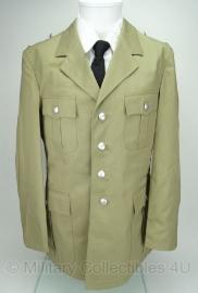 Uitgaans uniform jas khaki met zilveren knopen- origineel