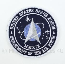 US United States Space Force Department of the Air Force embleem - met klittenband - diameter 9 cm