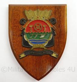 KM Marine wandbord Hr Ms Hoogezand - afmeting 14 x 18 x 1,5 cm - origineel