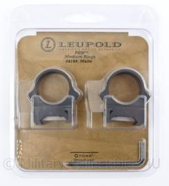 Leupold 25mm. PRW Medium Rings - Matte Black - nieuw in verpakking - origineel