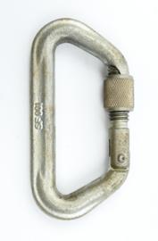 Defensie metalen karabijnhaak met vergrendeling Stubai 5000 SF001 Austria - 12 x 6 cm - origineel