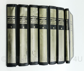 Naslagwerk serie ' Bericht van de tweede wereldoorlog ' - 7 delen - Formaat per deel: 31x22x5 cm - origineel