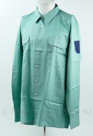 Duitse Zoll douane proefversie overhemd groen -  huidig model met lange mouw - maat 43/44L - NIEUW - origineel