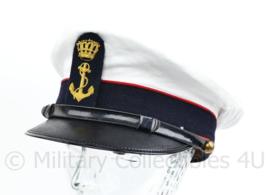 Korps Mariniers platte pet met officiers insigne van metaaldraad - maat 56 -  origineel