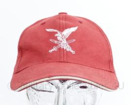 Luchtmobiele brigade bordeaux rode baseball cap - one size - origineel