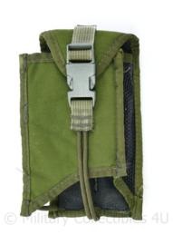 Defensie of US Army Groene Molle opbouwtas voor magazijn of portofoon - 17 x 9 x 4 cm - origineel