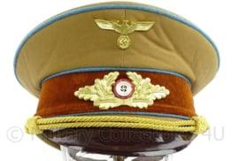 NSDAP Schirmmütze für Politische Leiter der Ortsgruppenleitung replica- luxe variant! - 59 of 60 cm.