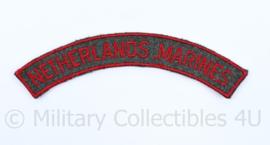 Netherlands Marines Korps Mariniers straatnaam voor TRIS troepenmacht in Suriname  - origineel  - origineel