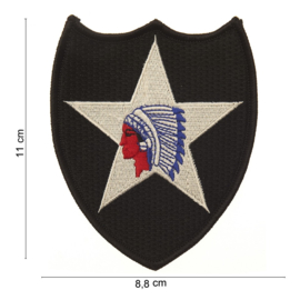 2nd infantry Division (Indian Head) patch - 11 x 8,8 cm.