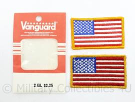 US Armflags Full colour Vanguard nieuw in de verpakking  - 13 x 8 cm - origineel