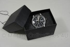 Horloge Fliegeruhr - WO2 Duits piloten model - zwarte leren band