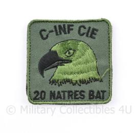 KL Nederlandse leger C INF CIE 20 NATRES BAT 20 Natresbataljon borstembleem - met klittenband - 5 x 5 cm - origineel
