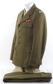 Pools Officiers uniform met medaille balken - 175 cm lengte/100 cm borst - origineel