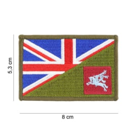 Embleem stof WW2 British  Pegasus Parachute Infantry Regiment with British flag and GREEN - 8 x 5,3 cm.