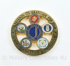 Coin Jones International University for Service members US Army  - diameter 4,5 cm - origineel