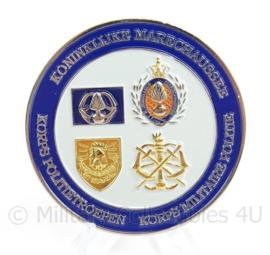KMAR Marechaussee en Korps Politietroepen Coin Veteranendag 2011 - doorsnede 6 cm - origineel