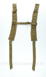 Nederlandse leger Daypack Grabbag rugzak draagstel coyote banden set - 91 x 6,5 x 1 cm - NIEUW - origineel