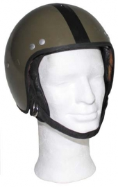 Leger Motorhelm - groen - Small of Medium - origineel