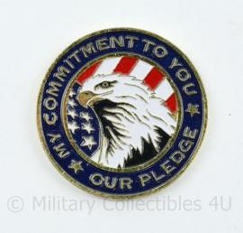 Zeldzame coin National Guard Commitment - diameter 4,5 cm - origineel