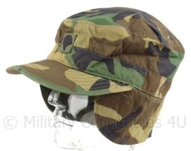 US Army woodland cap  -met rang Specialist - maat 7 1/2 - origineel