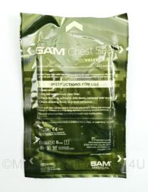 Leger Sam Chest seal with Valve ventiel, Sam Pneumothorax Valved 2.0 - om gat in borst af te dekken - nieuwste model - t.h.t. 01-02-2025 - origineel