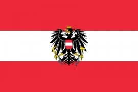 Vlag Oostenrijk - Polyester -  1 x 1,5 meter