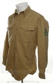 USMC Khaki Shirt - Corporal -meerdere maten  - origineel