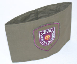 DDR armband GRIJS - Zivilverteidigung - origineel