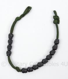 Korps Mariniers armband 100 meter teller met doodshoofden - afmeting 29 x 1 cm - origineel