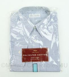 Marks en Spencer overhemd lange mouwen - wit met blauw gestreept - halsmaat 39/40 - nieuw in verpakking - origineel