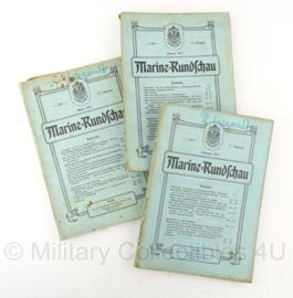 Boek Marine Rundschau - 1911 - set van 3 boeken - origineel