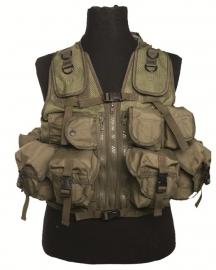 Tactical vest met 9 tassen - groen