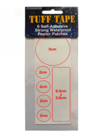 StormSure TUFF Tape Reparatie assorti patches - om gaten en lekkages te repareren - 6 stuks