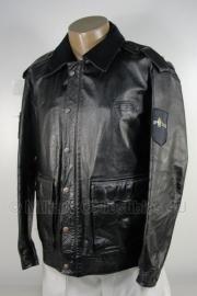 Politie jack - leren - Heren - maat 54 - origineel - (art.nr. 47)