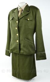 WO2 US Dames WAC officer class A jas MET rok replica OD -  size 38 t/m 48