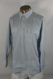Overhemd lange mouw lichtblauw - ongebruikt -  maat 36 tm. 39 - origineel Bundeswehr